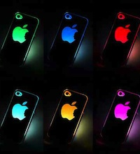 coque iphone 4 4s led lumineuse logo pomme apple pas ch re. Black Bedroom Furniture Sets. Home Design Ideas